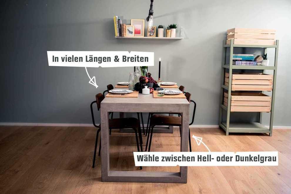 Hervorragend Betontisch Kalle selber bauen - Betonmöbel - OBI Selbstbaumöbel MJ81
