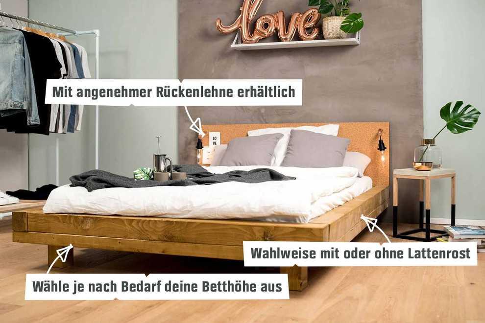 Bett Ludwig selber bauen - Betten - OBI Selbstbaumöbel