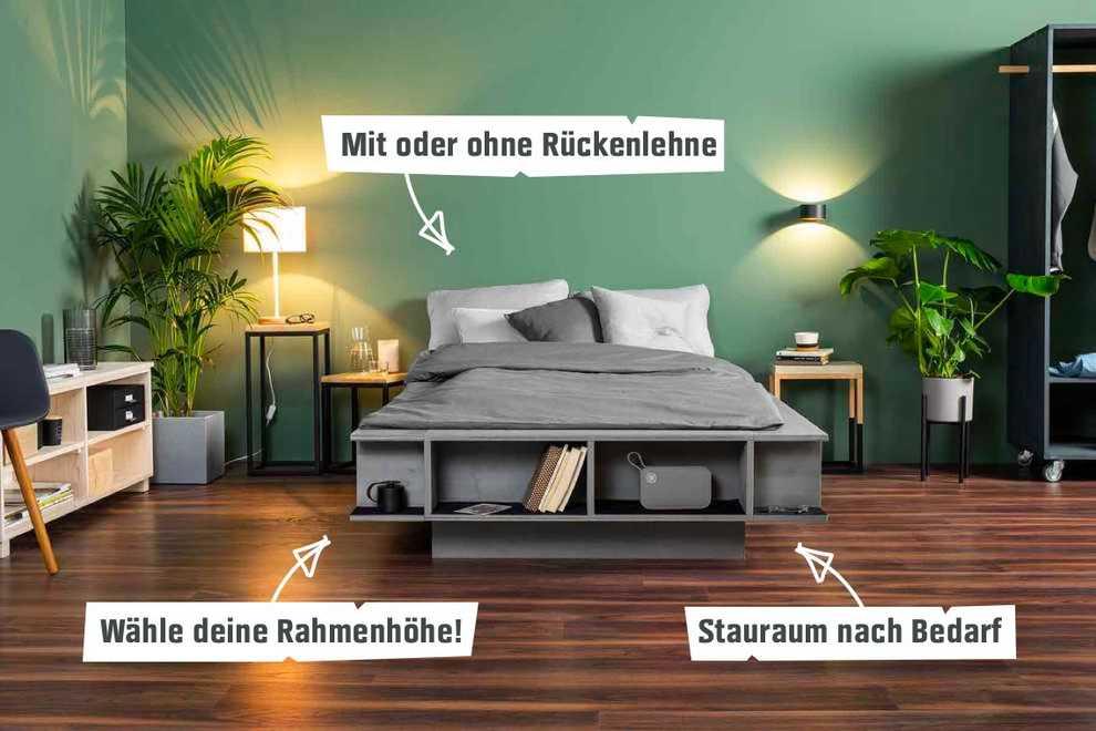 Bett Wilhelm selber bauen - Betten - OBI Selbstbaumöbel