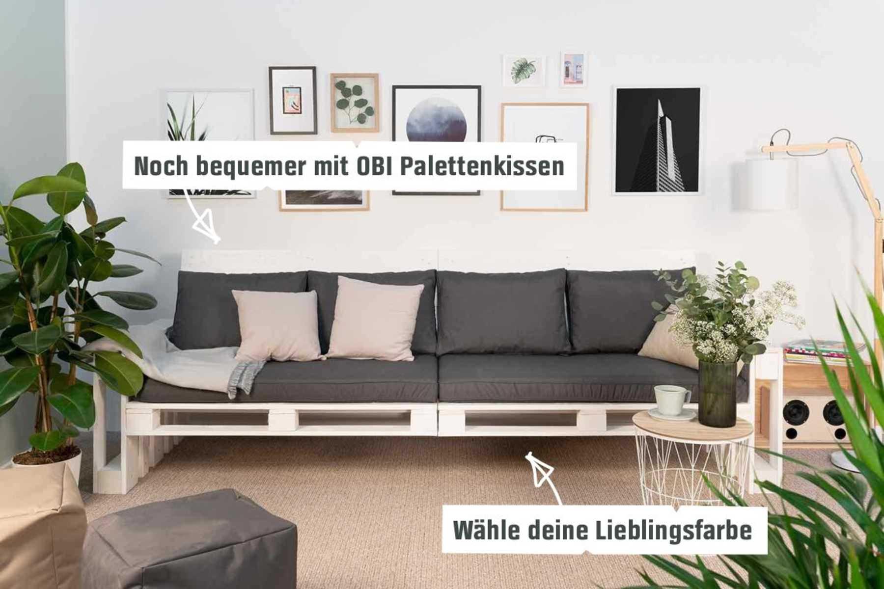 couch chillig 2er selber bauen palettenm bel obi. Black Bedroom Furniture Sets. Home Design Ideas