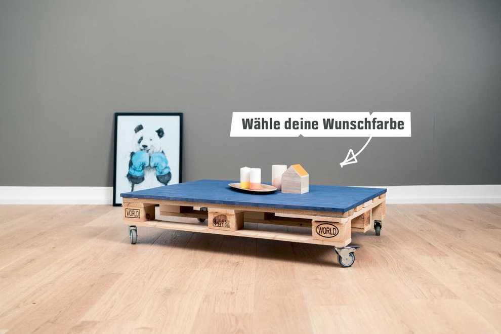 couchtisch einfach selber bauen palettenm bel obi. Black Bedroom Furniture Sets. Home Design Ideas