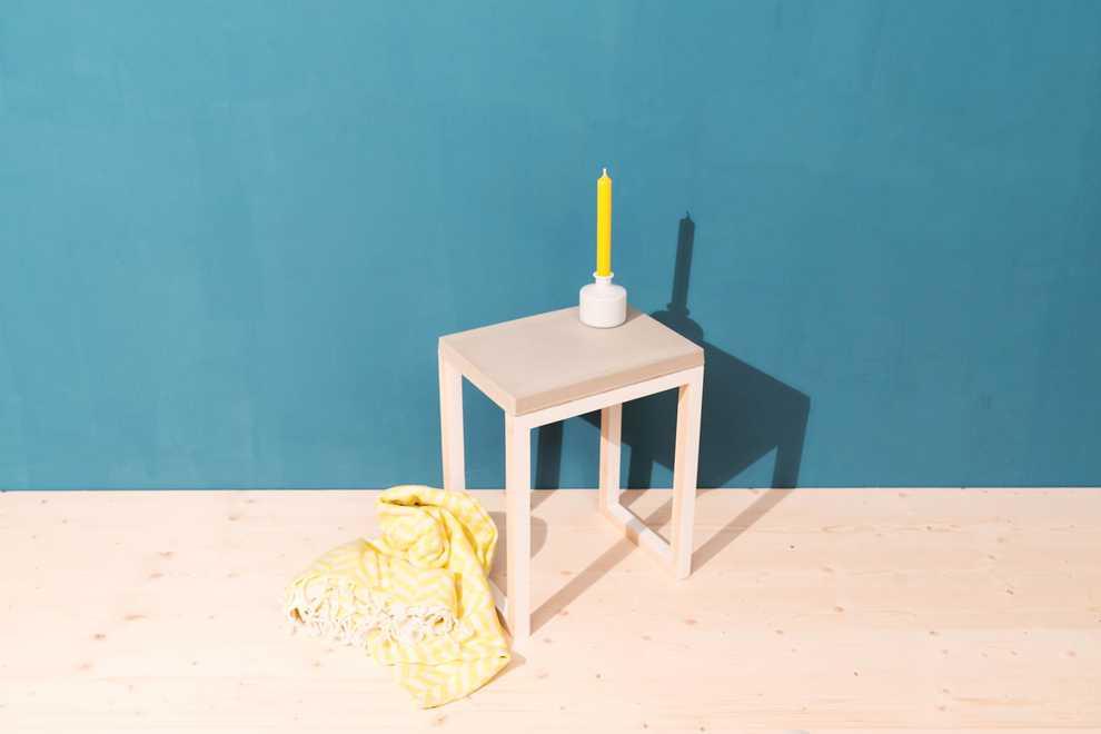 Couchtisch felsenfest selber bauen betonm bel obi for Couchtisch filigran