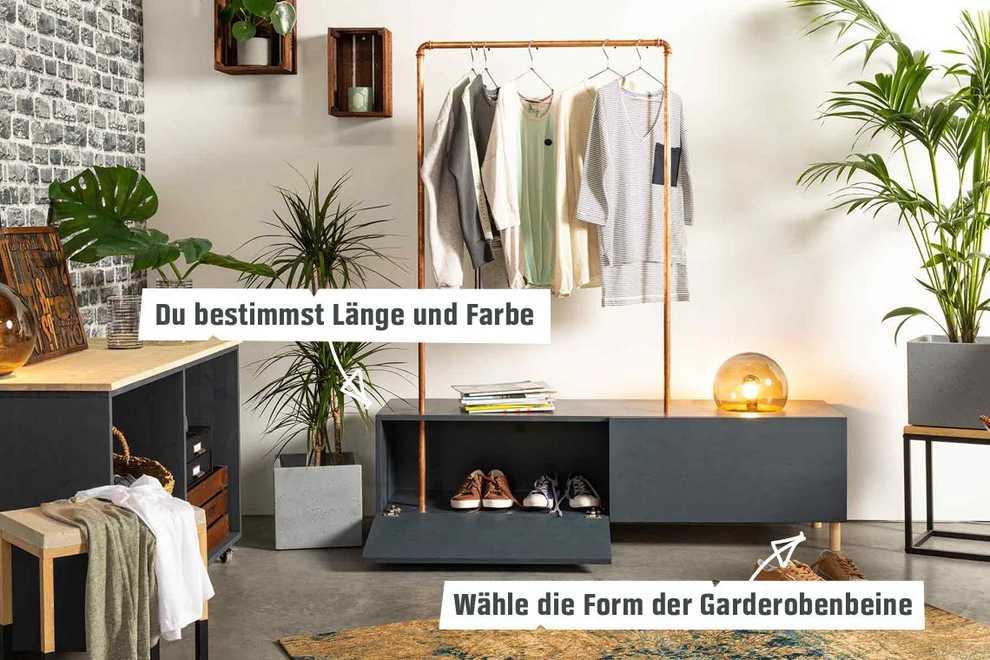 Top Garderobe Merle selber bauen - Aufbewahrung - OBI Selbstbaumöbel MM35