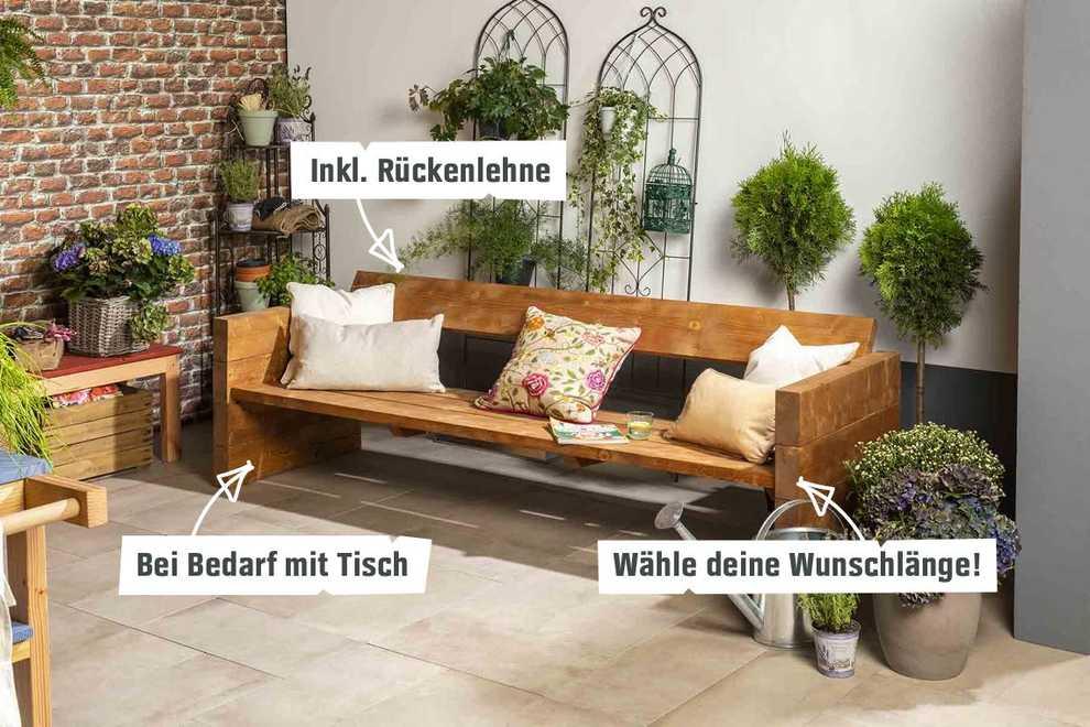 Lieblings Gartenbank Jule selber bauen - Gartenmöbel - OBI Selbstbaumöbel #XN_62