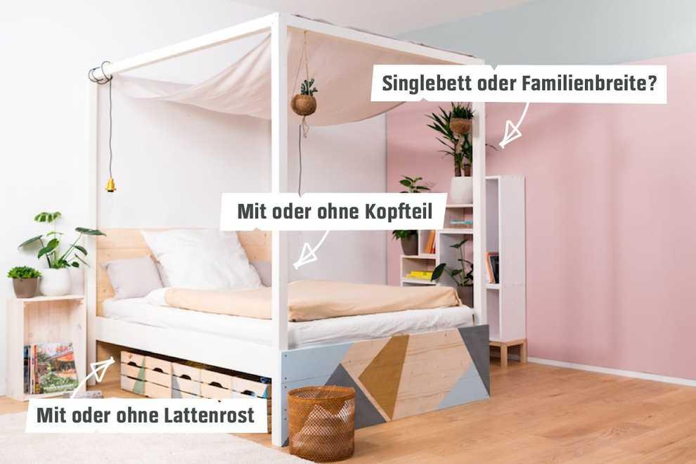 Himmelbett Frieda selber bauen - Betten - OBI Selbstbaumöbel