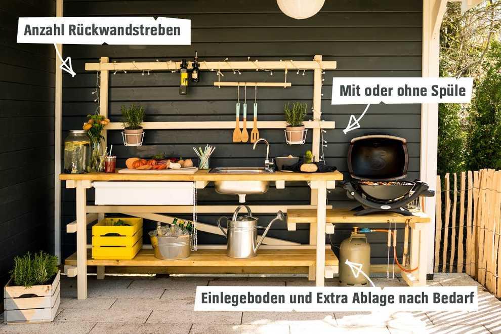 Outdoorküche Mit Spüle Zubehör : Outdoorküche alfons selber bauen gartenmöbel obi selbstbaumöbel