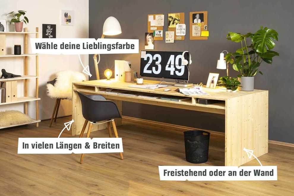 Bevorzugt Schreibtisch Otto selber bauen - Tische - OBI Selbstbaumöbel HG57