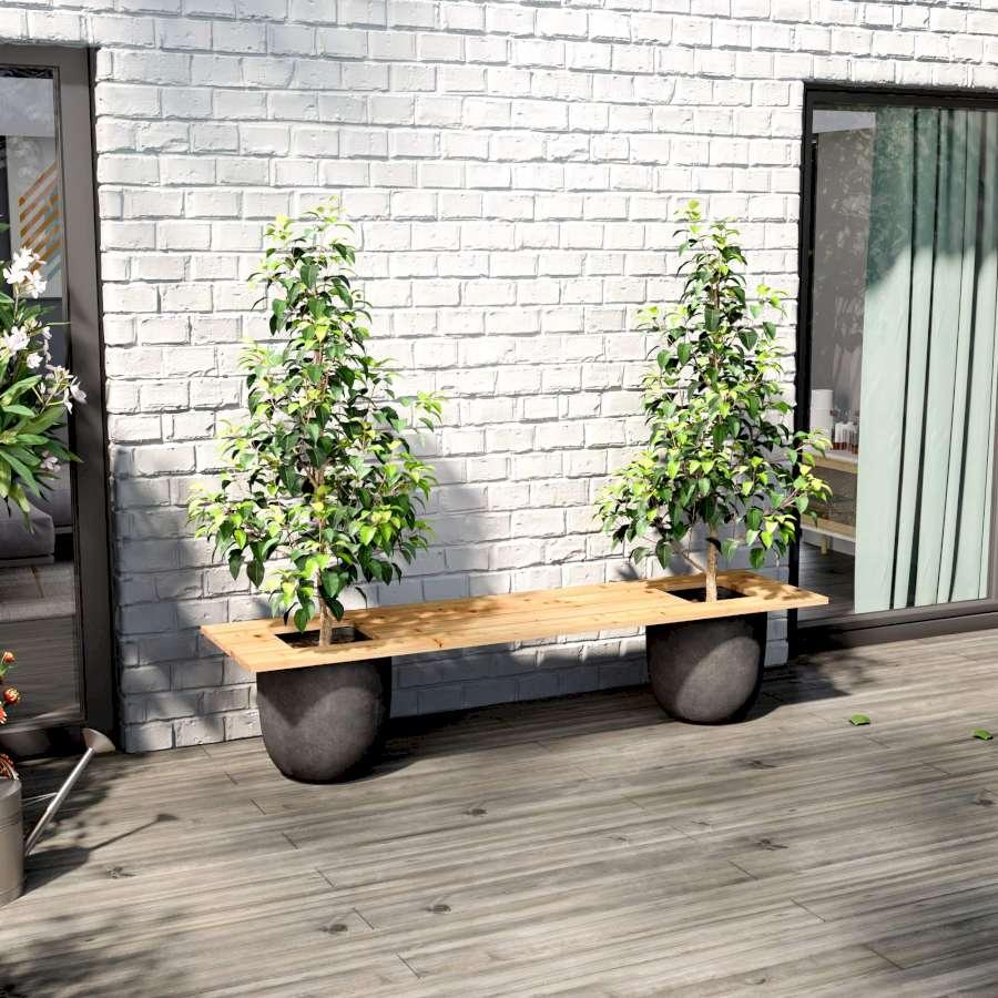 Gartenbank Pflanzkübel selber bauen   DIY Idea