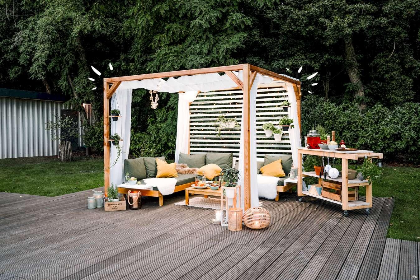 Pavillon Grundkonstruktion selber bauen   DIY Idea